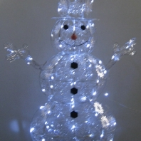 "48"" 3D snowflake snowman with CSA LED 80L"